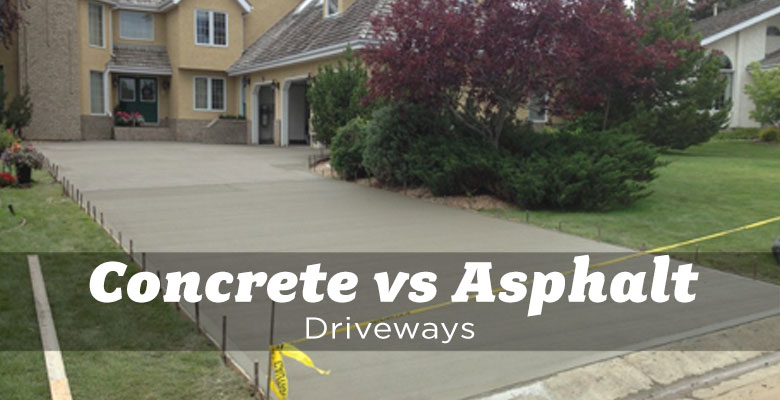 Concrete Vs Asphalt Driveways The Edmonton Real Estate